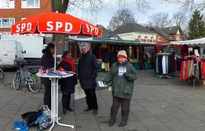 Infostand der SPD Lohbrügge auf dem Lohbrügger Markt