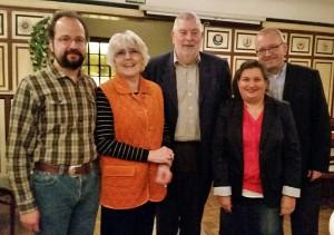 Michael Schütze, Christa Timmermann, Fritz Hamester, Simone Gündüz und Andreas Tilsner (von links)