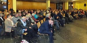 Mehr als 200 Menschen wollten Olaf Scholz zuhören!