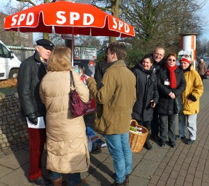 Infostand der SPD Lohbrügge am Lohbrügger Markt